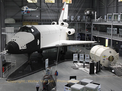 The Buran prototype OK-GLI, shown in the Technik Museum Speyer, was built in 1984 and was used for testing gliding-flight and landing after re-entry into the atmosphere. 25 atmospheric flights were made between 1984 and 1989. The program was discontinued in 1993, after the collapse of the Soviet Union.
