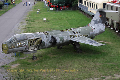This German Air Force F-104G Starfighter (25+66) is preserved - but partially dismantled - at the Technik Museum Speyer.
