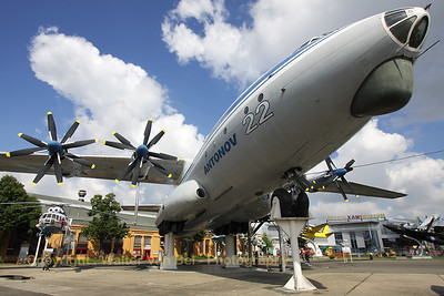 This giant - an Antonov An-22 - is preserved at the Technik Museum Speyer. The An-22 has a wing span of more than 64 meters, it is 57,3 meters long and is 12,5 meters tall.