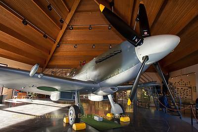 Supermarine 379 Spitfire F14E (SG57/RL-D; cn6S/432331) at the Memorial Spitfire - Musee Col.Avi. R. Lallemant DFC. at Florennes Air Base.