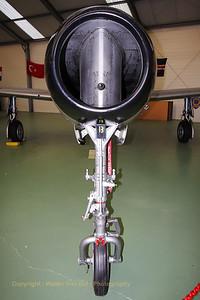 Belgian Air Force F-84E Thunderjet (FS-7; 3R-B; cn1358), preserved at Florennes Air Base (Museum Col. Avi. R. Lallemant DFC).