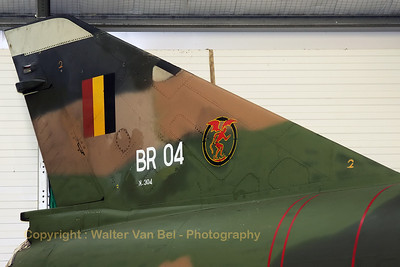 Belgian Air Force Mirage 5BR (BR04; cn304), from 42Sqn, preserved in the Museum at Florennes Air Base (EBFS).