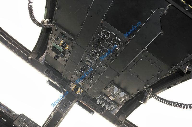 Osprey cockpit overhead.