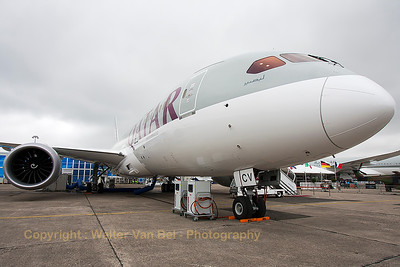 Boeing 787-8 Dreamliner (A7-BCV; cn38340/292) from Qatar Airways, in the static at the 2015 Paris Air Show.