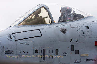 Close-up of a USAF A-10C (78-0651; DM; cnA10-0271) from the 354th FS, in the static parc at the 2015 Paris Air Show.