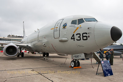US Navy Boeing P-8A Poseidon (168436-LA; cn40816-4219) in the static parc at the 2015 Paris Air Show.