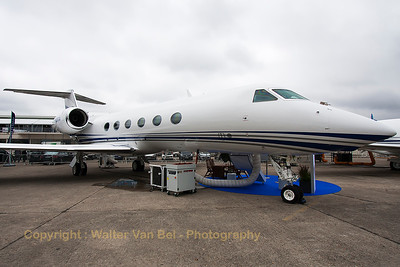 Gulfstream Aerospace G-IV-X Gulfstream G450 (N450GA; cn4275), in the static at the 2015 Paris Air Show.
