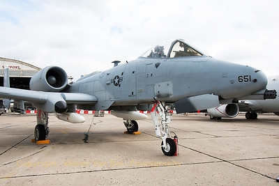 A USAF A-10C (78-0651; DM; cnA10-0271) from the 354th FS, in the static parc at the 2015 Paris Air Show.