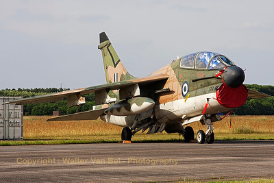 This TA-7C Corsair II (156753,cnE20/TE30) is seen in the static parc at Volkel Air Base (Luchtmachtdagen 2013).