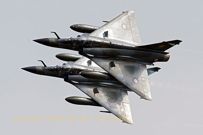 "The French Air Force ""Ramex Delta"" formation, closest to the camera is  Mirage 2000N (125-AJ/350, cn308), during their show at the ""Luchtmachtdagen 2013"" at Volkel Air Base."