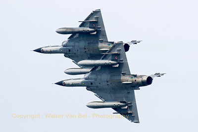 "The French Air Force ""Ramex Delta"" formation, closest to the camera is Mirage 2000N (125-AG/369, cn366), during their show at the ""Luchtmachtdagen 2013"" at Volkel Air Base."
