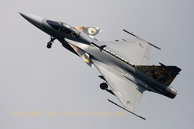 This Czech Air Force JA39C Gripen (9235; cn39235), shows her splendid tiger c/s during the Volkel Air Show (Luchtmachtdagen 2013).