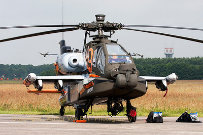 The Netherlands Air Force Apache Solo Display, featuring its new c/s commemorating 100 years of RNLAF, at Volkel Air Base (Luchtmachtdagen 2013).