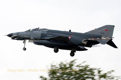 Turkish Air Force F-4E-2020 (73-1046, cn4677) from 111Filo, on final for RWY28 at Gilze-Rijen Air Base(Luchtmachtdagen 2014).