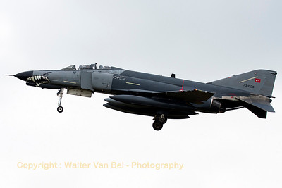Turkish Air Force F-4E-2020 (73-1020, cn4548) from 111Filo, on final for RWY28 at Gilze-Rijen Air Base(Luchtmachtdagen 2014).