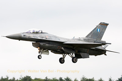 "This Hellenic Air Force F-16C-52 (519, cnXK-20) from 340 Mira is seen on final for RWY28, after its rehearsal-demo, on the arrival-day prior to the ""Luchtmachtdagen 2014"" at Gilze-Rijen Air Base."