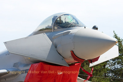 Close-up of an Italian Air Force EF-2000 (MM7280; 36-30; cnIS012), on the flight-line of BA133 (Nancy-Ochey).