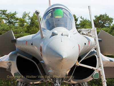 "The French Air Force Rafale display-team, used the ""Tiger""-Rafale C (113-GU; cn142) from EC1/7 ""Provence"", during the display at BA133 (Nancy-Ochey). Here, the ""Thunder Tiger"" is seen in close-up, at the flight-line."