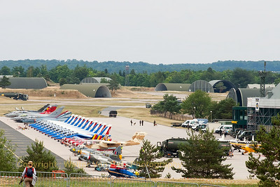 Overview of the flightline at Nancy-Ochey (LFSO).