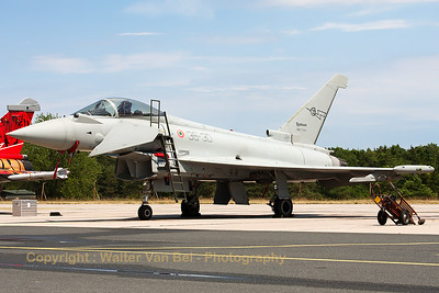 Italian Air Force EF-2000 (MM7280; 36-30; cnIS012), on the flight-line of BA133 (Nancy-Ochey).