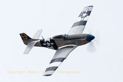 "Hangar 11 Collection's P-51D ""Jumpin' Jacques"" (G-SIJJ; cn122-31894), performs a nice high speed pass across the beach at Soutport Airshow, unfortunately in very poor weather conditions."