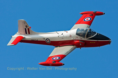 This BAC 84 Jet Provost T5 (G-BWSG; XW324; U; cnEEP/JP/988) performs a nice banking pass during the Southport Airshow.