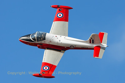 This BAC 84 Jet Provost T5 (G-BWSG; XW324; U; cnEEP/JP/988) performs a nice top-side pass during the Southport Airshow.