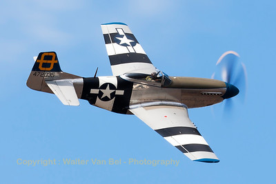 "Hangar 11 Collection's P-51D ""Jumpin' Jacques"" (G-SIJJ; cn122-31894), performs a nice high speed pass across the beach at Soutport Airshow.[re-edit]"