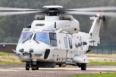 This Belgian Air Force NH-90 NFH(RN-02; cn1041/NBEN02),is seen here returning to its parking position after its hoisting-demo during the spottersday at KB, prior to the 2015 Sanicole Air Show.