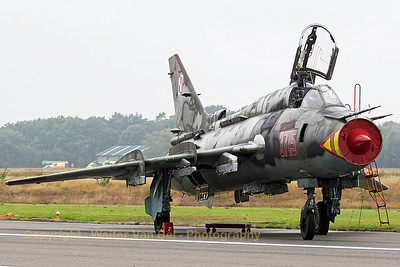 Polish Air Force Sukhoi Su-22M4 (3715; cn37715) parked on the taxi-track at KB, during the spottersday prior to the Sanicole Air Show 2015.