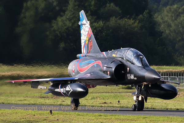 A French Air Force Mirage 2000N (353; 125-AM) - from EC2/4 with special c/s, on the taxitrack at Florennes Air Base during the spottersday prior to the Belgian Air Force days 2016.