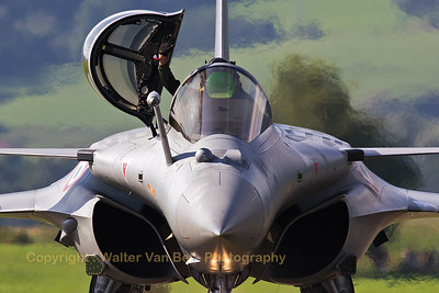 """This French Air Force Rafale C (142, 4-GU, cn142) from ETR02.092, poses for the camera, after her splendid demo during """"Airpower 16"""" at Zeltweg Air Base."""