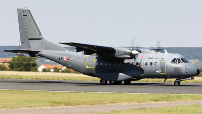 """French Air Force CN235M-200 (071; 62-IE; cn071), from ET1/62 """"Vercors"""" at Evreux/Fauville (LFOE), is seen here taking off from Nancy-Ochey's RWY02 during the """"Departure Day"""", after the 2018 Air Show (LFSO)."""