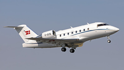 """Danish Air Force Canadair CL-600-2B16 Challenger 604  (C-215; cn5515), from Esk 721 at Aalborg , is seen here taking off from Nancy-Ochey's RWY02 during the """"Departure Day"""", after the 2018 Air Show (LFSO)."""