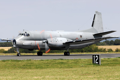 """French Navy Breguet ATL2 Atlantique NG (15; cn15), from 23F at Lorient/Lann-Bihoué (LFRH), is seen here backtracking over RWY02 at Nancy-Ochey (LFSO) during the """"Departure Day"""", after the 2018 Air Show."""