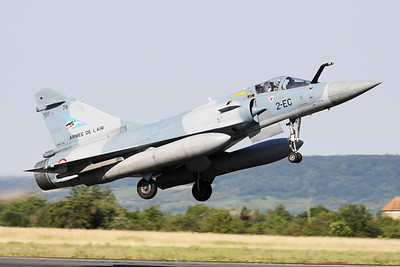 """French Air Force Mirage 2000-5F (78; 2-EC; cn318), from EC1/2 """"Cigogne de Fonck"""" (SPA103), is seen here taking off from Nancy-Ochey's RWY02 during the """"Departure Day"""", after the 2018 Air Show (LFSO)."""