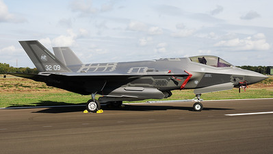 The first time on Belgian soil, an italian Air Force F-35A (MM7359; 32-09) parked in the static during the Belgian Air Force days at Kleine Brogel AFB.