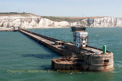 Entering Dover habour.