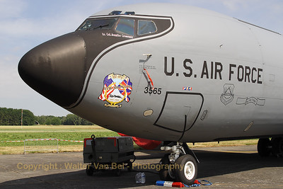KC-135R Stratotanker from 100ARW/100th Bomb Group, in the static parc at the Beauvechain Air Show 2010.