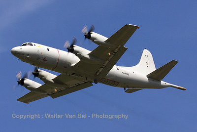 German Navy P-3C Orion arriving over EBBE during the arrival day for the 2010 Air Show at Beauvechain.