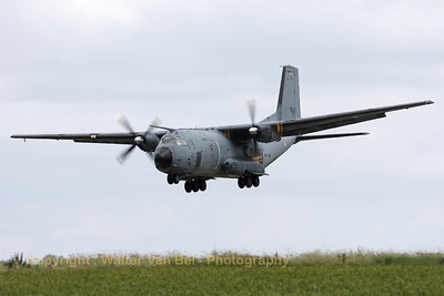 A French Air Force Transall C-160R (R223; 64-GW; cn226) on final for RWY26R, on the arrival day for the 2012 Airshow at Florennes.