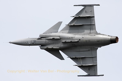 "The Caslav-based JAS-39C Gripen put up a very nice display during the ""Open Dagen 2010"" at Gilze-Rijen AFB."