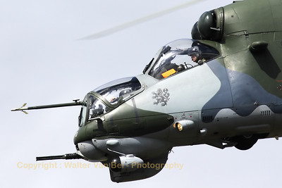 "Close-up of a Czech Air Force Mi-35 ""Hind"", during its impressive show at Gilze-Rijen."