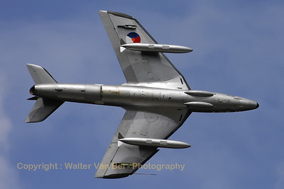 "The Hawker Hunter F6A, in Royal Netherlands Air Force c/s, showing its graceful lines during the ""Luchtmachtdagen 2010"" at Gilze-Rijen."