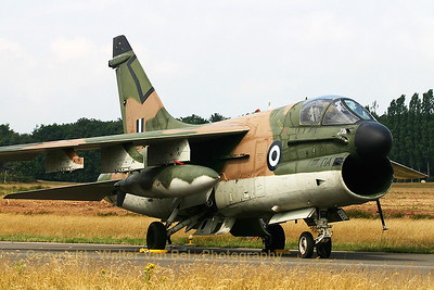 A Greece Air Force LTV A-7E Corsair II (160736; cn E-569), on static display at the KB-Open door 2005.