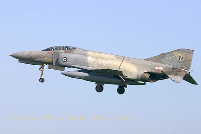 Greek F-4E (01517 ;cn4503) landing on Rwy 29 during the arrival day for the Koksijde Airshow.
