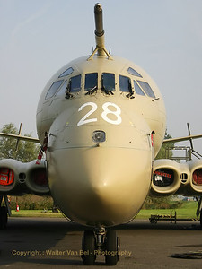 Close-up of the RAF HS Nimrod MR2 (XV228; cn8003), in the static at the 2005 Koksijde Air Show.