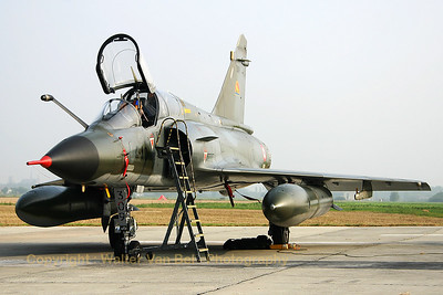 A French Air Force Mirage 2000N (309; 4-AO), in the static at Koksijde, during the 2005 Air Show.
