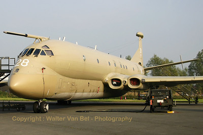 The RAF HS Nimrod MR2 (XV228; cn8003), in the static at the 2005 Koksijde Air Show.