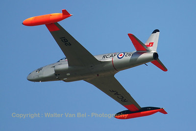 Canadair CT-133 Silver Star (civil reg. G-TBRD; 261; cnT33-261), seen here arriving over Koksijde Air Base on the arrival day for the 2005 Air Show. Sadly, this beautiful T-Bird crashed during take-off from Duxford on September 6th, 2006. Luckily, the crew escaped with minor injuries.